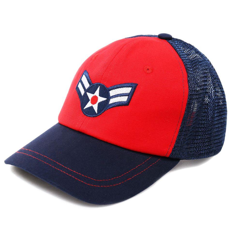 美國 Dabbawalla - 瓦拉帽-美國隊長網格棒球帽 (3-10歲(頭圍52~56.5cm))