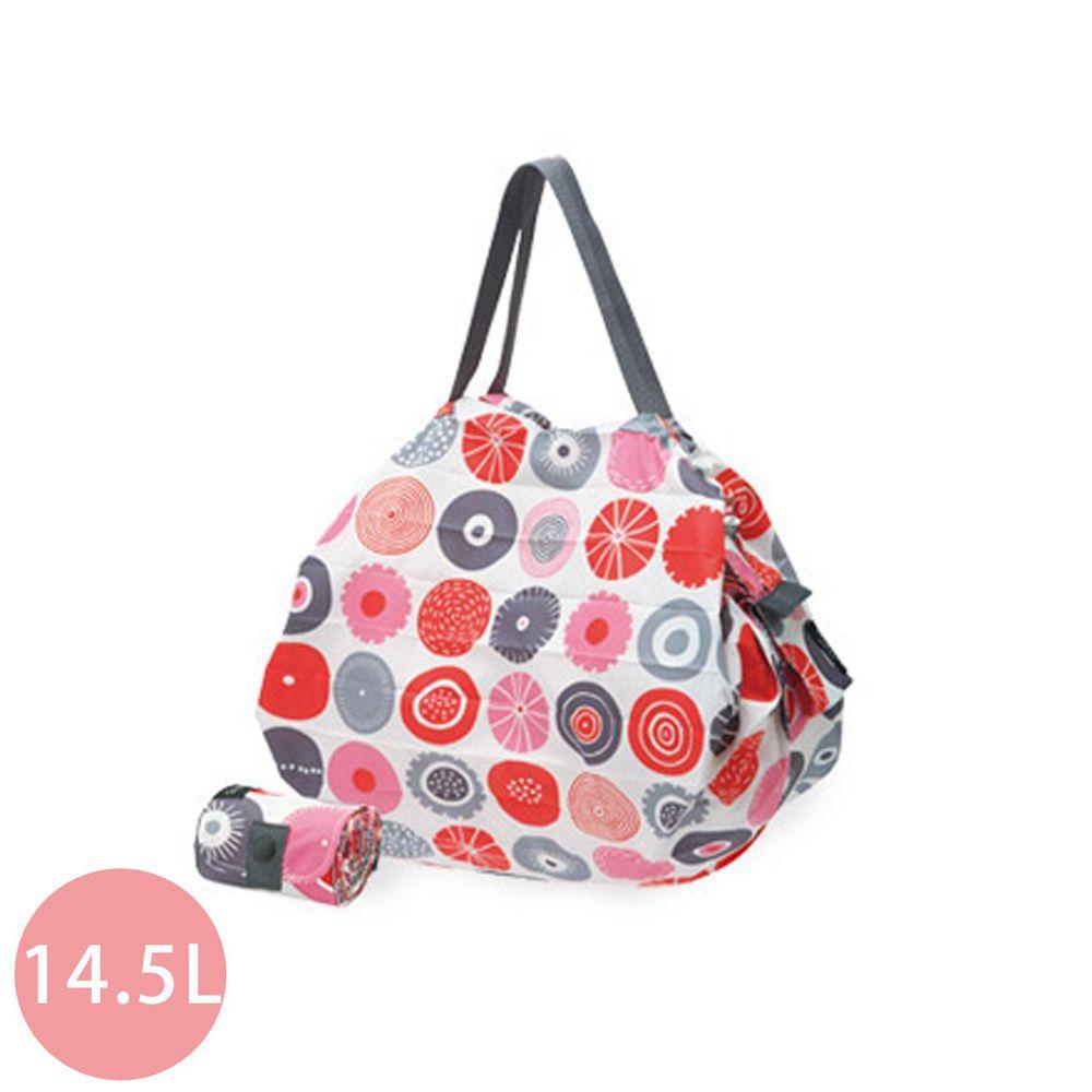 日本 MARNA - Shupatto 秒收摺疊購物袋-北歐聯名限量款-甜蜜糖果(Candy) (M(30x35cm))-耐重5kg / 14.5L