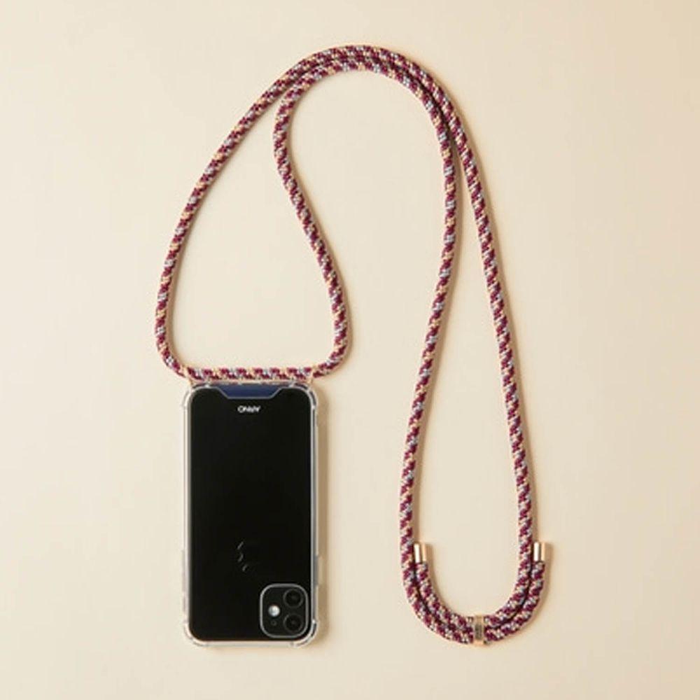 韓國 ARNO - 編繩背帶透明手機殼-微醺紫