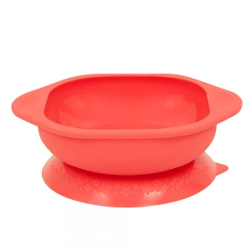 MARCUS&MARCUS - 動物樂園矽膠防漏幼兒學習吸盤碗-紅獅子