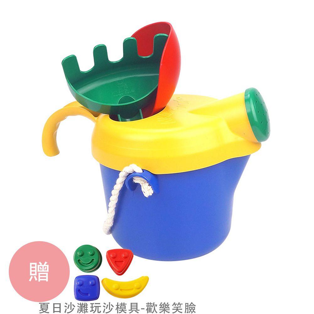 瑞典 Viking toys - 【新品】夏日沙灘玩沙工具組-玩沙澆花桶-送夏日沙灘玩沙模具-歡樂笑臉