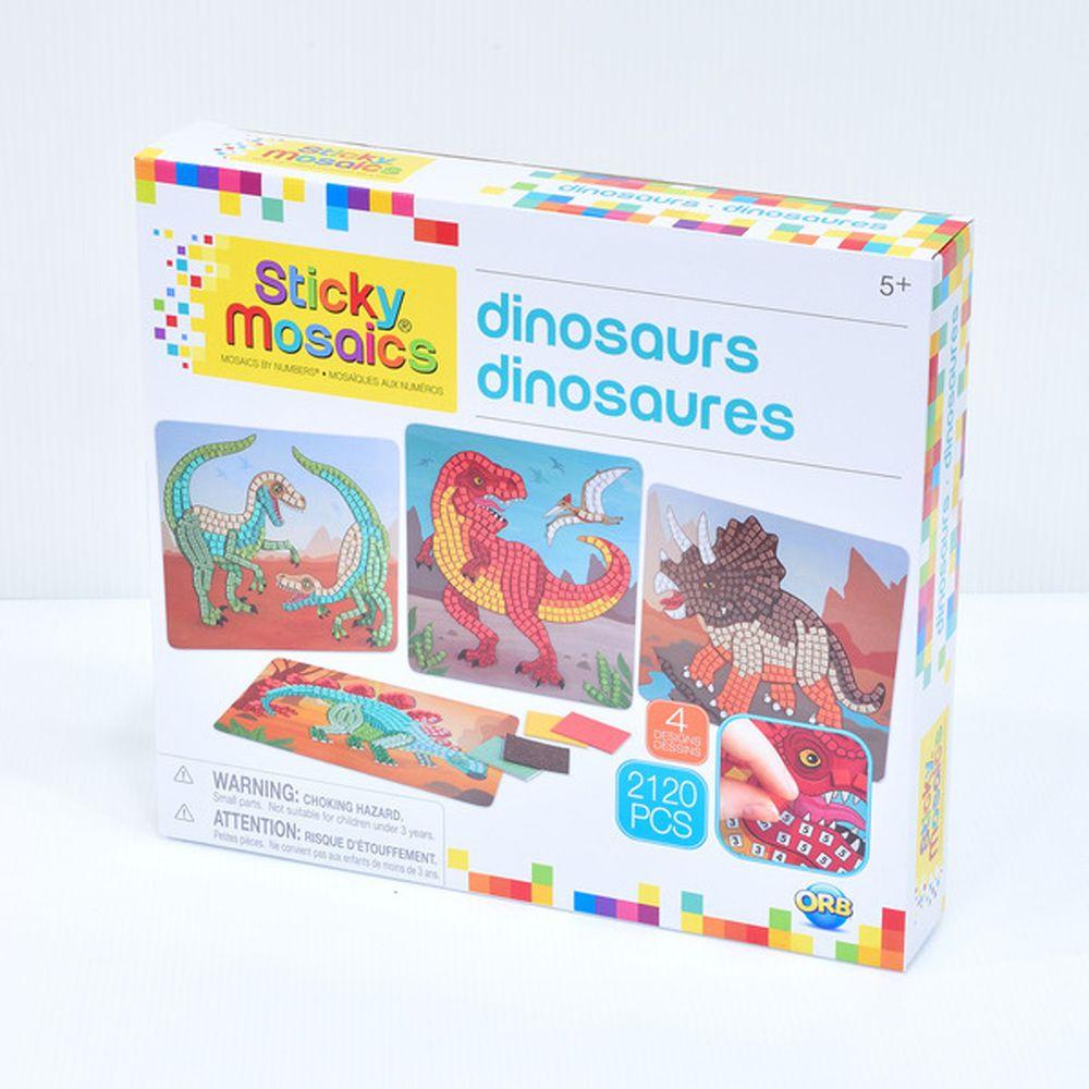 加拿大 Sticky Mosaics - 馬賽克拼貼-恐龍-2120 pcs