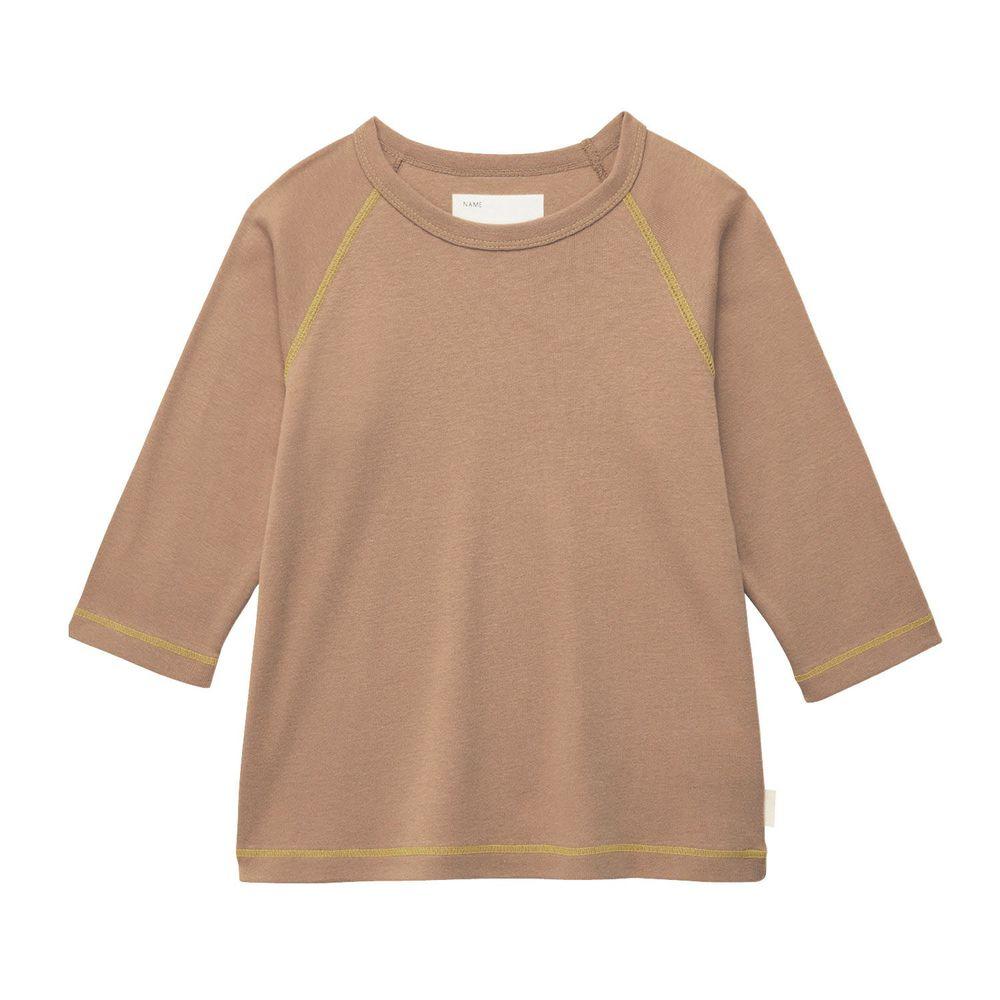 日本千趣會 - GITA 純棉輕薄舒適七分袖T-素面-咖啡