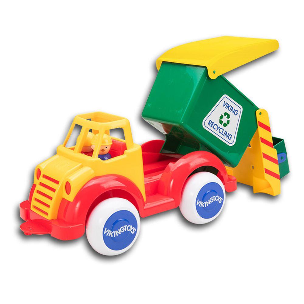 瑞典Viking toys - Jumbo 資源怪手回收車(含兩隻人偶)-28cm