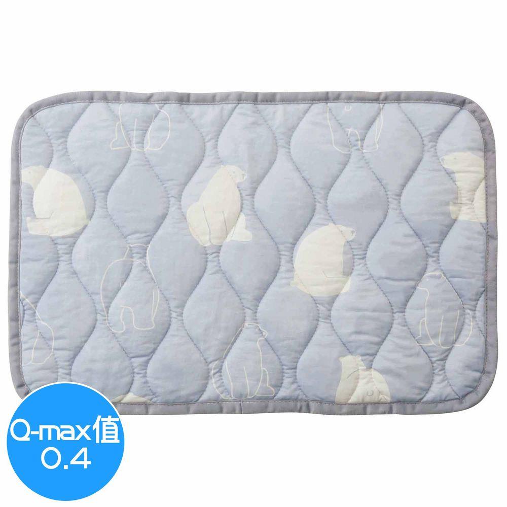 日本小泉 - 節電對策冷感波浪紋枕頭墊-北極熊20-淺灰 (43x63cm)