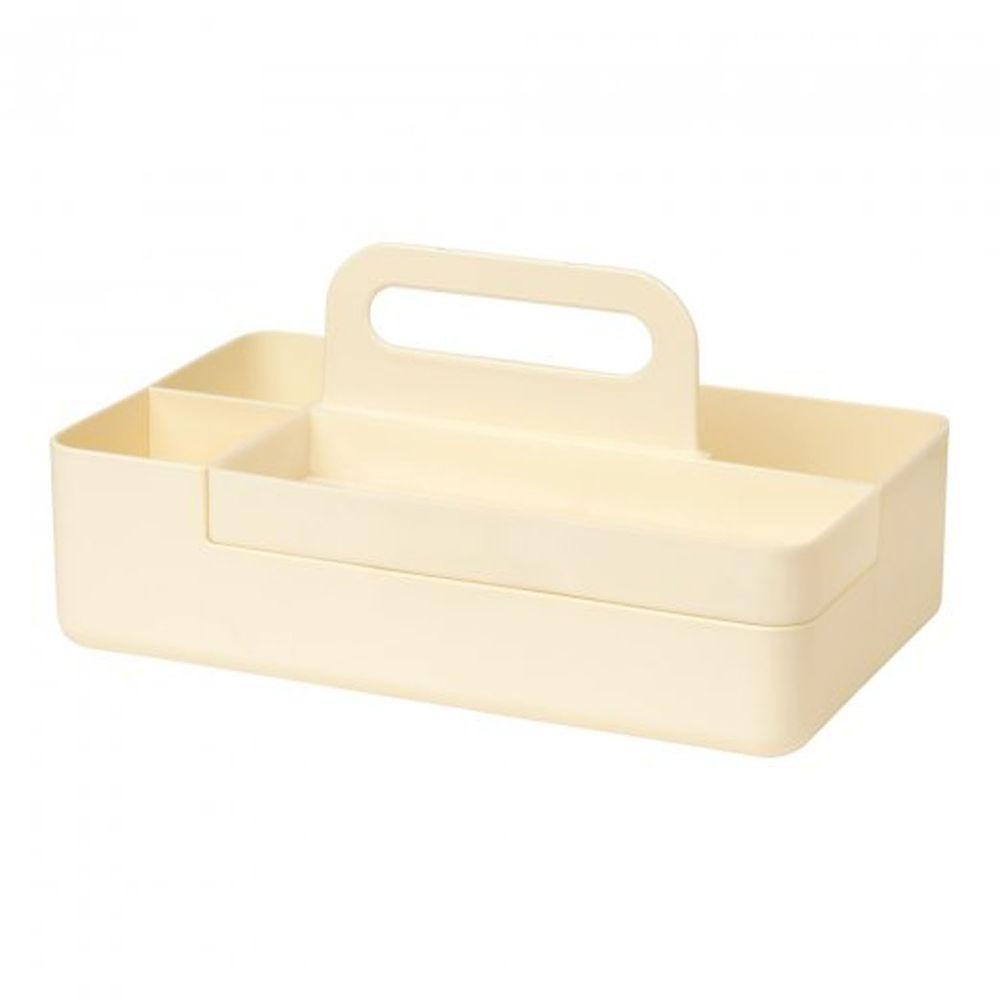 日本文具 SONIC - 手提式桌上文具分隔收納盒(磁吸設計)-米 (26x12.8x16cm)
