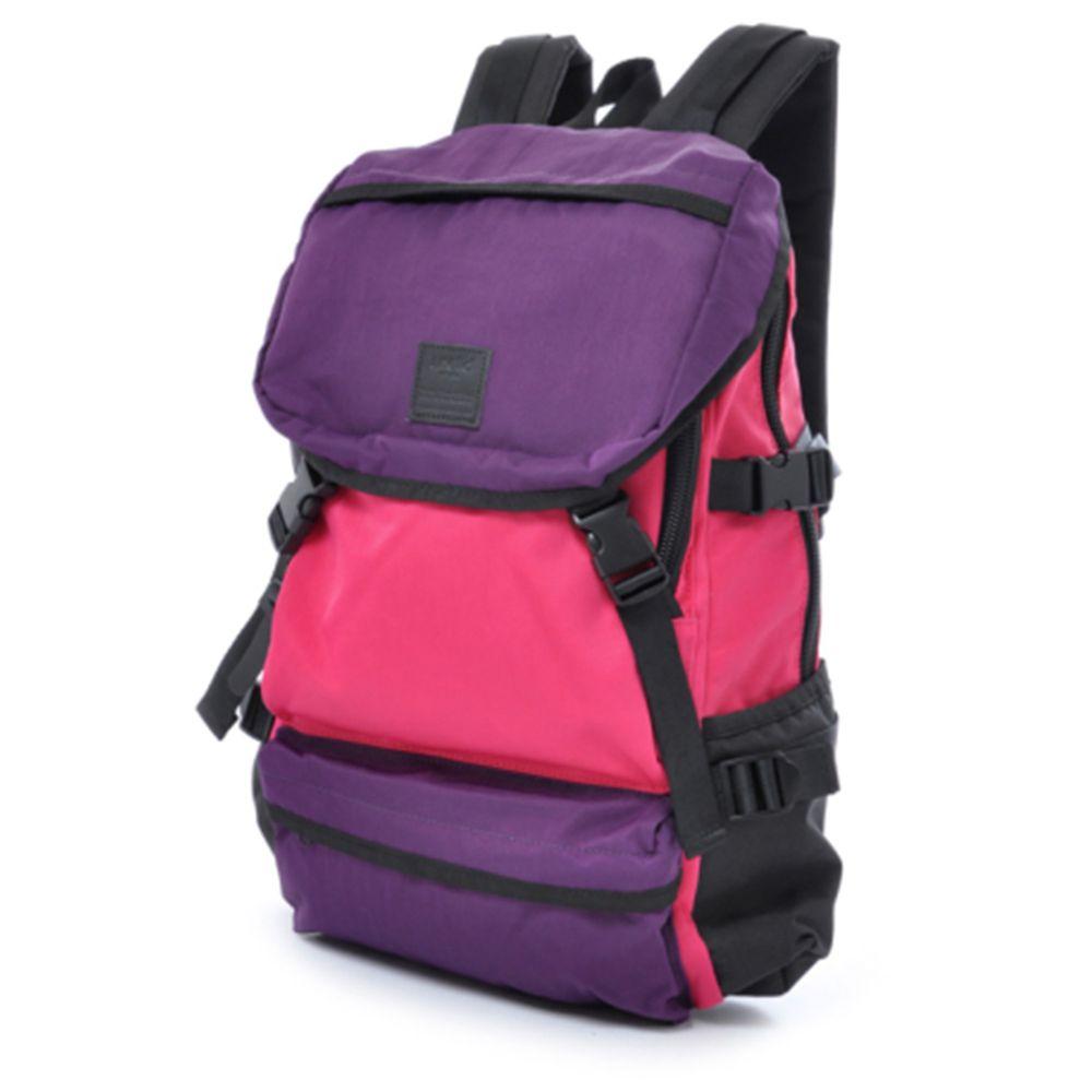 日本 Anello - WISE-BP 復古色 機能大容量戶外後揹包-Regular大尺寸-P/P紫粉色
