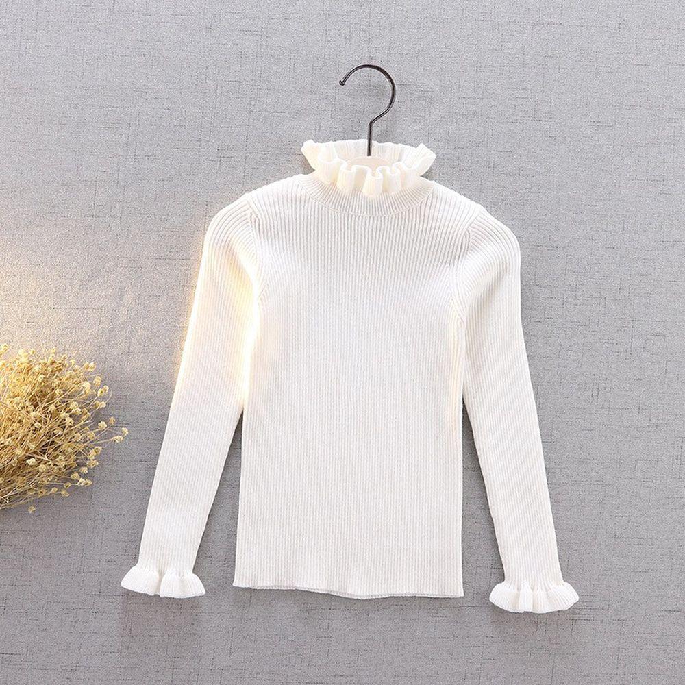 手工套頭針織衫-白色