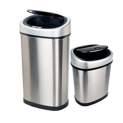 時尚不銹鋼感應垃圾桶(買大送小廚衛優惠組) (50L+12L)