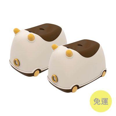 牛BUBU玩具收納車-卡布奇諾-2入