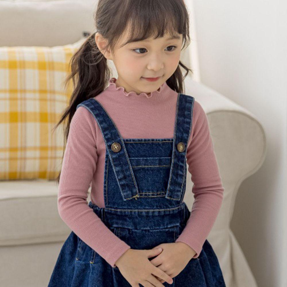 韓國 Orange Mom - 卷卷領針織上衣-粉紅