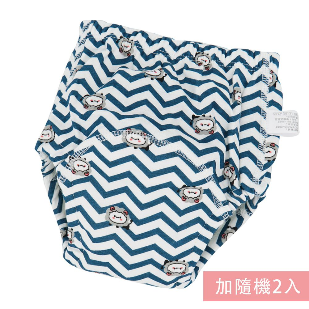 JoyNa - 可愛印花六層紗4層學習褲-3件入-條紋獅子+隨機2入