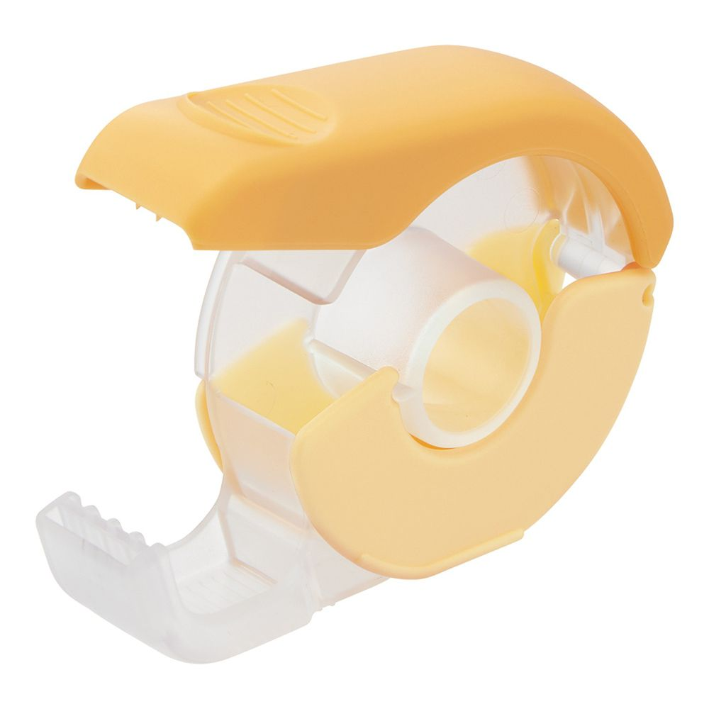 日本文具 LIHIT - 按壓式紙膠帶切割器-暖陽黃