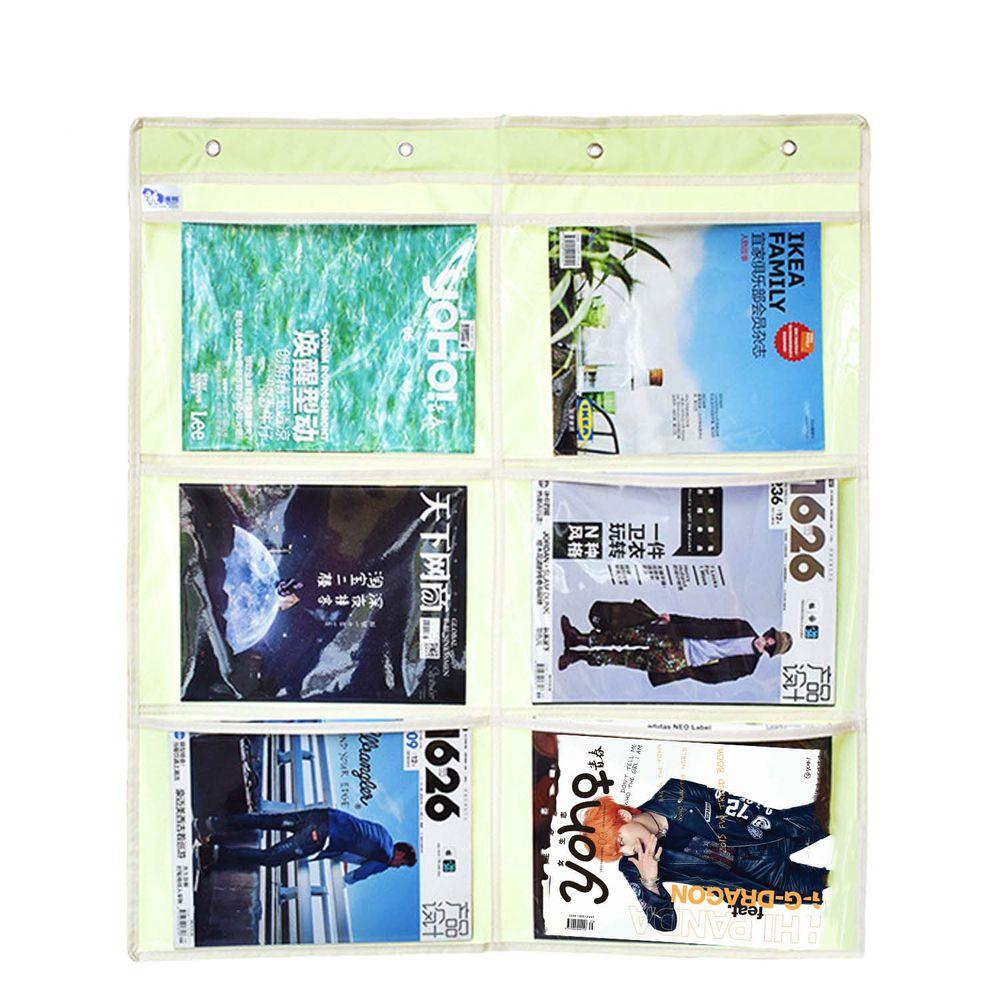 牛津布美術文件通告掛袋-A4橫款六格-綠色 (68*78cm)
