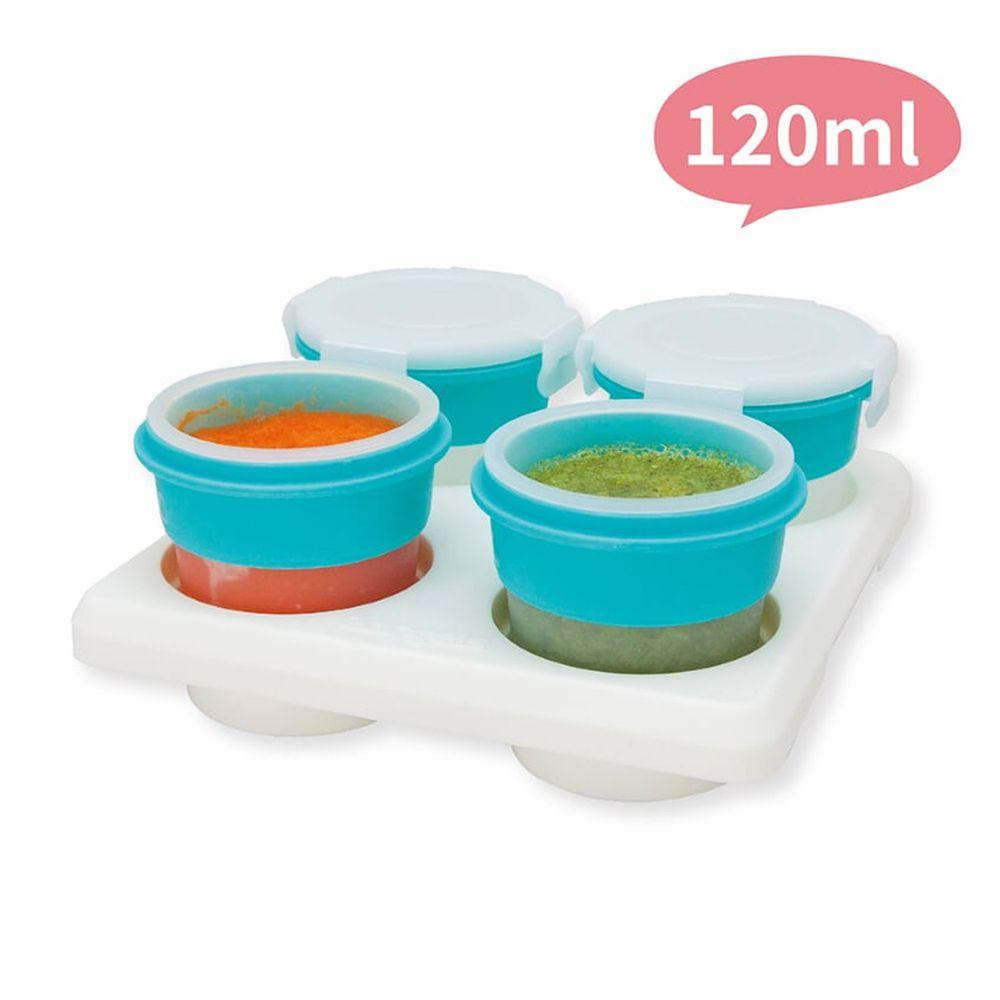 2angels - 矽膠副食品零食儲存杯(附杯架)-120ml