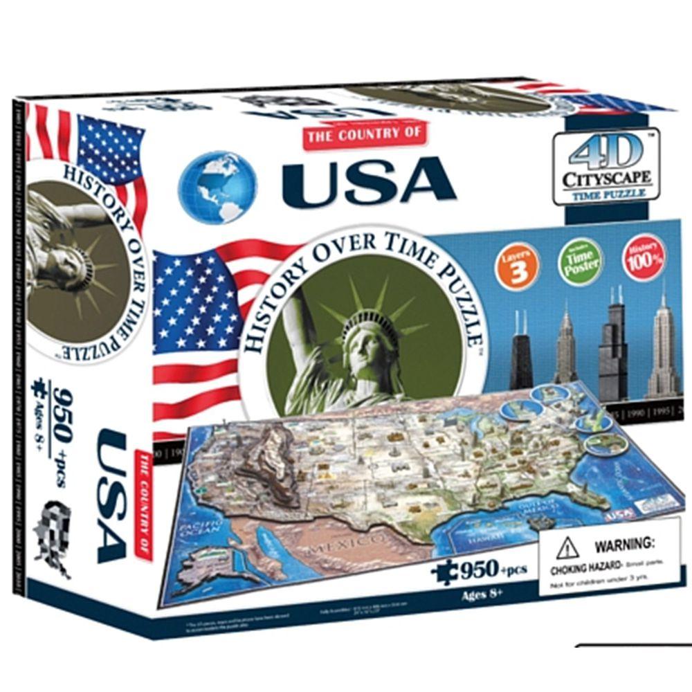4D Cityscape - 4D-城市拼圖-美國-950片