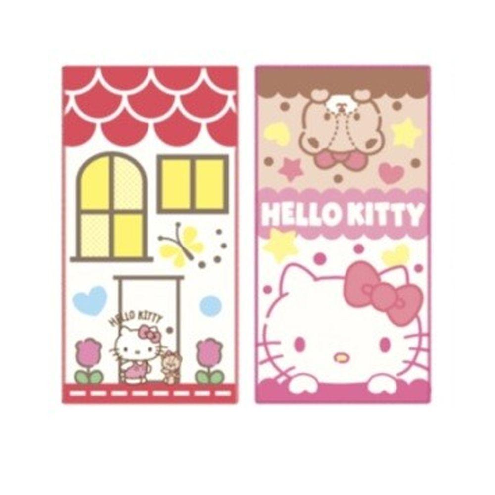日本代購 - 長方形小手帕/毛巾兩入組-Hello Kitty (10×20cm)