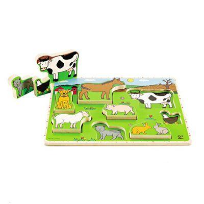 農場動物立體木拼圖
