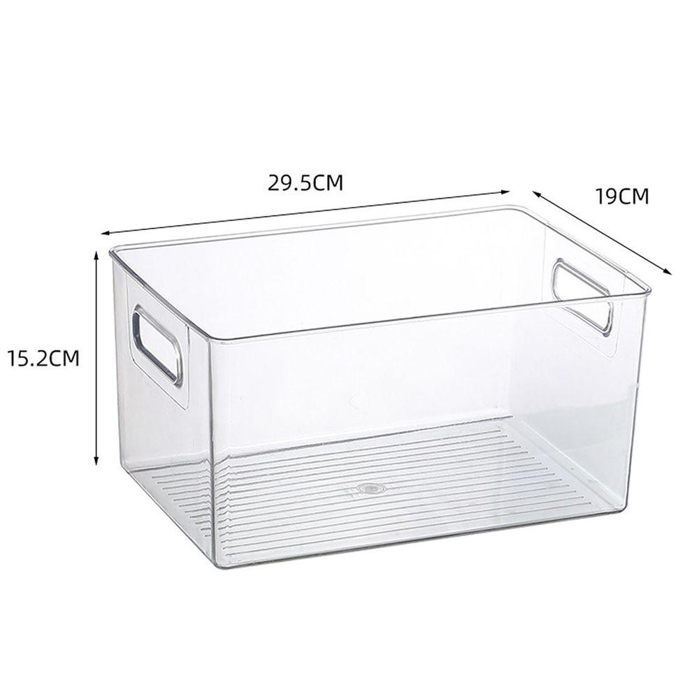 有提把透明收納盒-中號 (29.5x19x15.2cm)