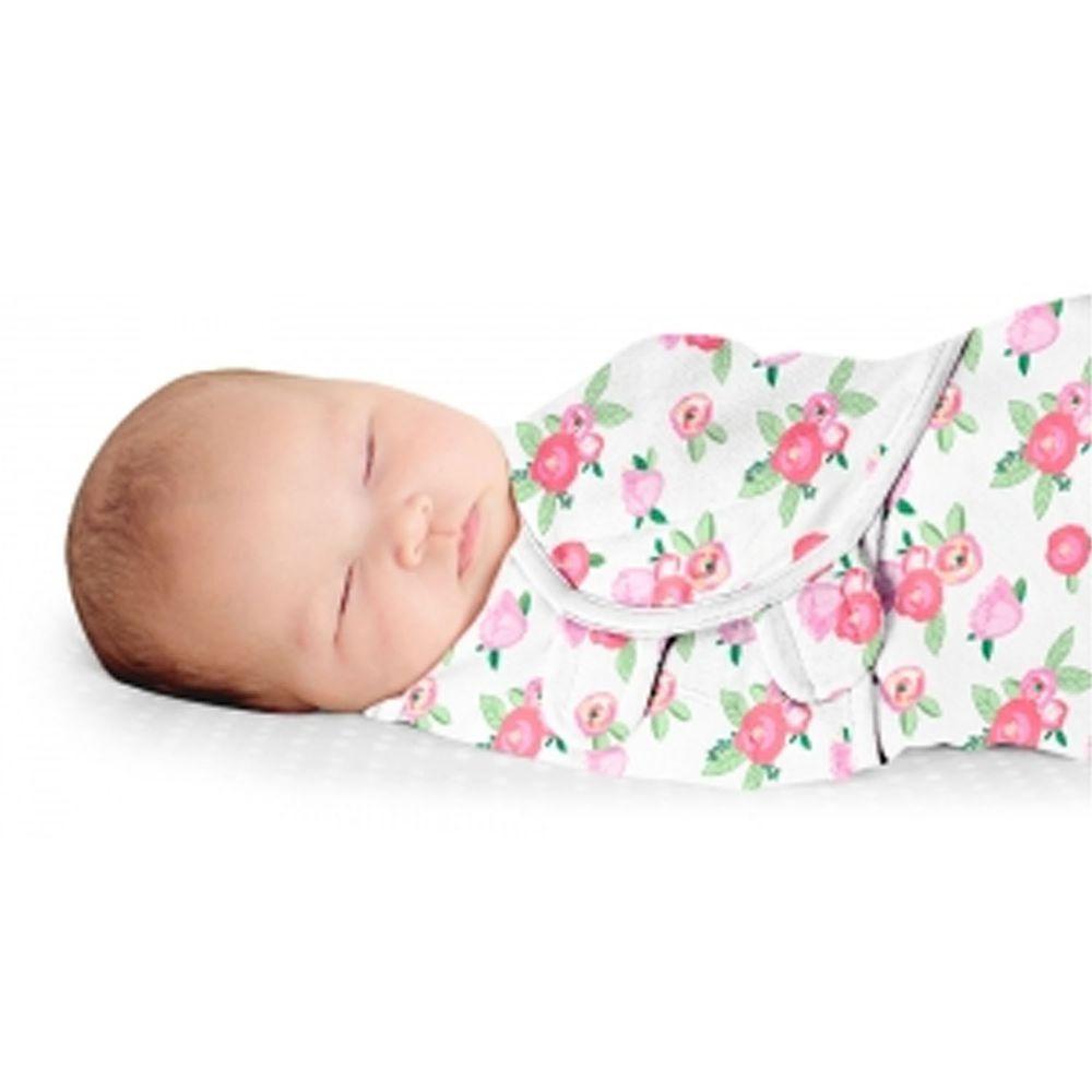 Summer Infant - 奢華舒眠安撫包巾-古典玫瑰-適用年齡:0~3個月