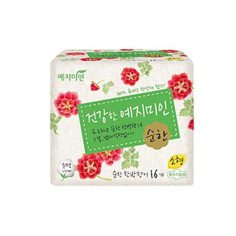 韓國 禮知美人 - 純棉漢方衛生棉 (25cm)-16片/包