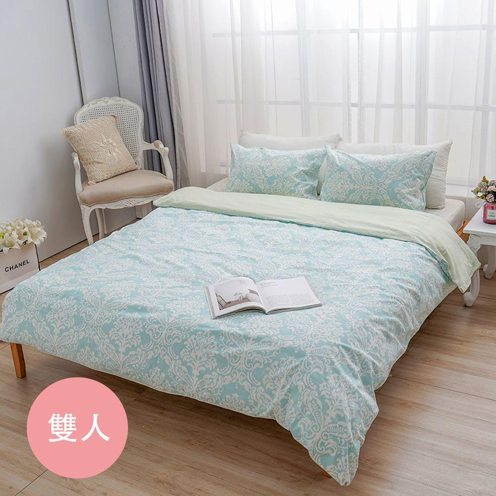 日本西村Westy - 法國時代-標準雙人被套3件組-綠-標準雙人款3件組-綠 (190x210cm, 45x75cm)-雙人被套x1 + 枕頭套x2
