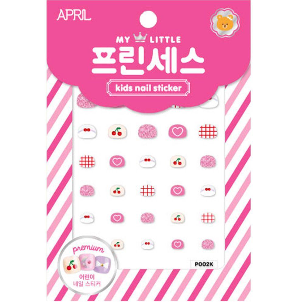 韓國 April - 兒童安全時尚指甲貼-愛心櫻桃