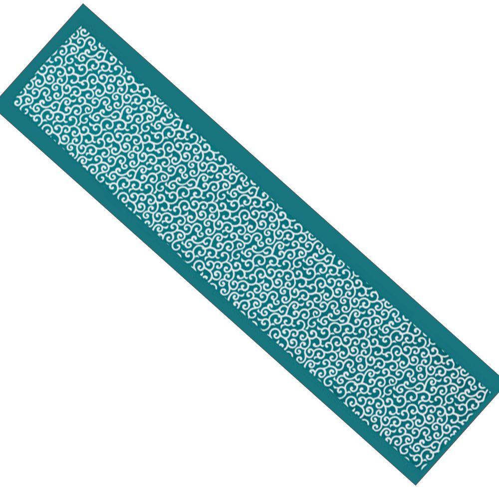 日本丸和 - 和柄小江戶水涼感巾(附收納袋)-唐草-綠 (20x100cm)