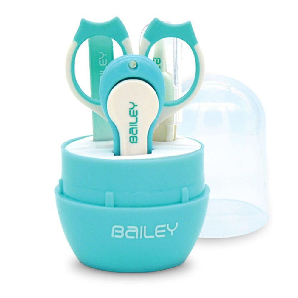 韓國 BAILEY 貝睿 - 寶寶安全指甲剪-實用 4 件組-水藍色