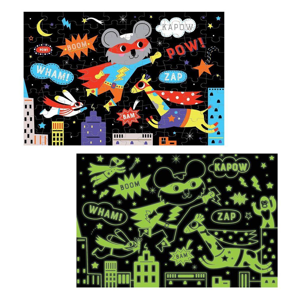 美國 mudpuppy - 美國 mudpuppy-夜光拼圖-超級英雄-100片-超級英雄-團購專案