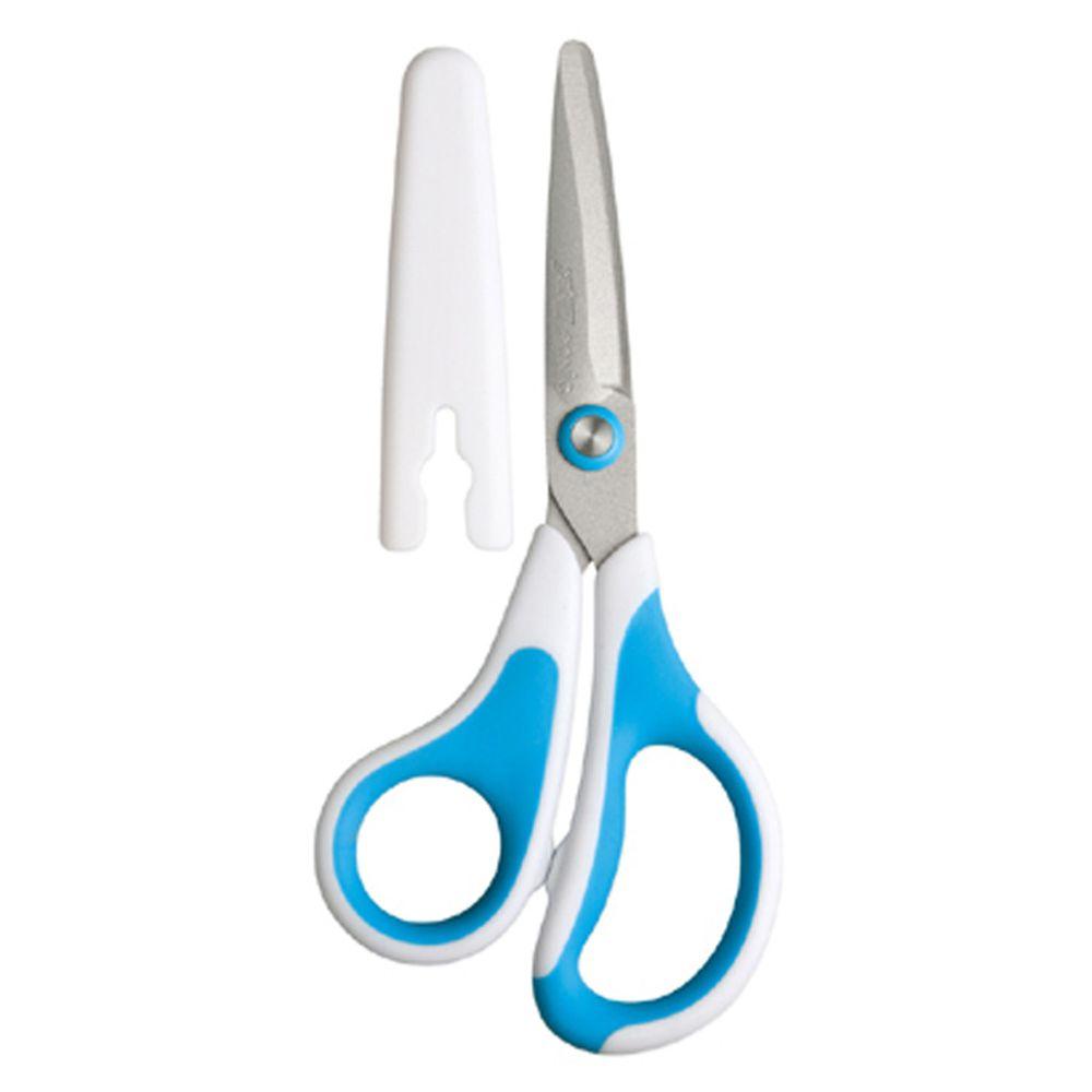 日本 SONIC - 3D AIR 輕量安全剪刀(不易黏膠) (藍)