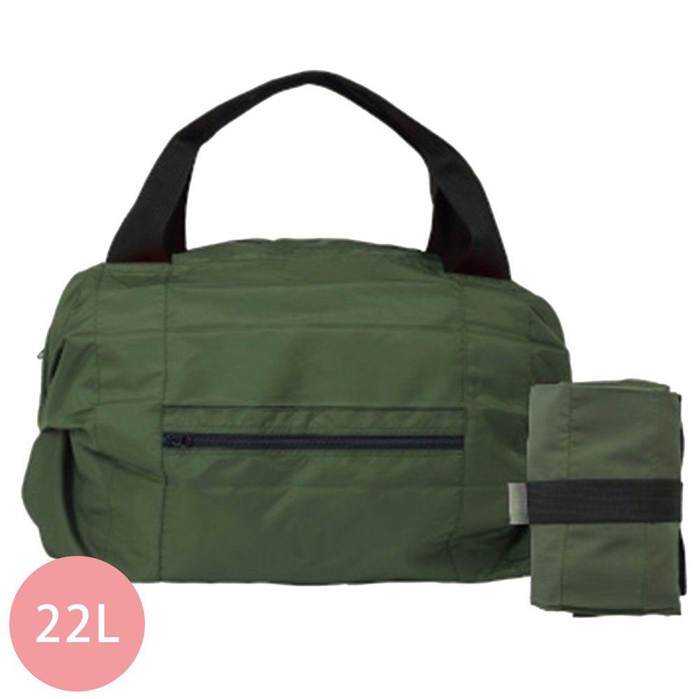 日本 MARNA - Shupatto 秒收摺疊防潑水旅行袋(可掛行李箱手把)-橄欖綠 (46x35x17cm)-耐重15kg / 22L