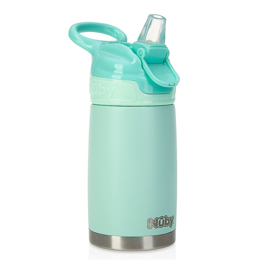 Nuby - 不鏽鋼真空隨行杯-薄荷綠-300ml