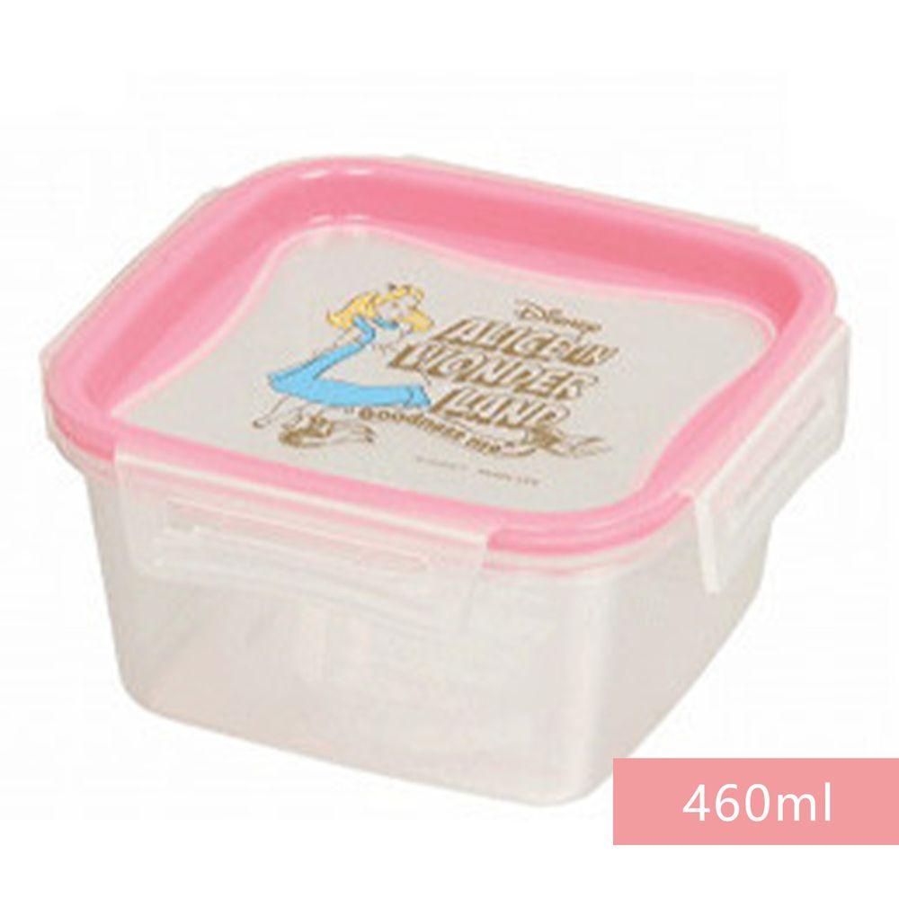 日本 Pearl金屬 - 日本製迪士尼可微波樂扣保鮮盒-愛麗絲 (正方形M(460ml))
