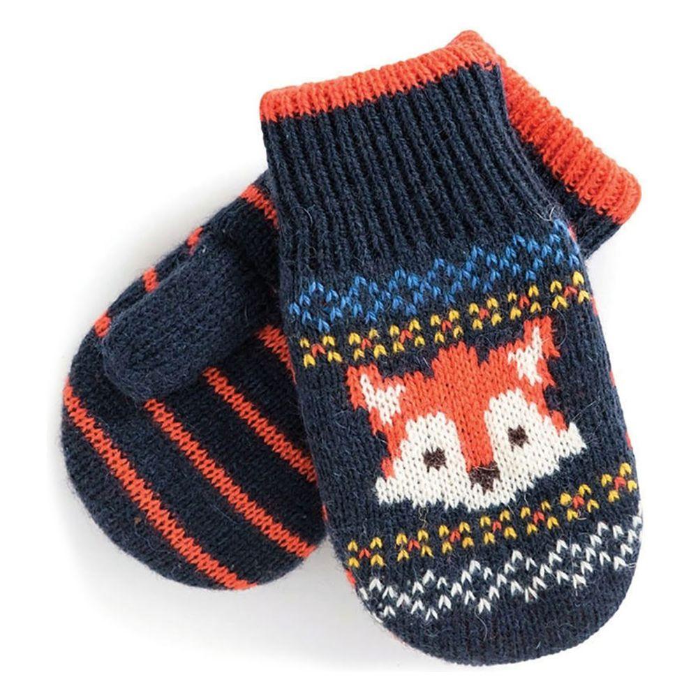 英國 JoJo Maman BeBe - 保暖舒適羊毛手套-俏皮狐狸