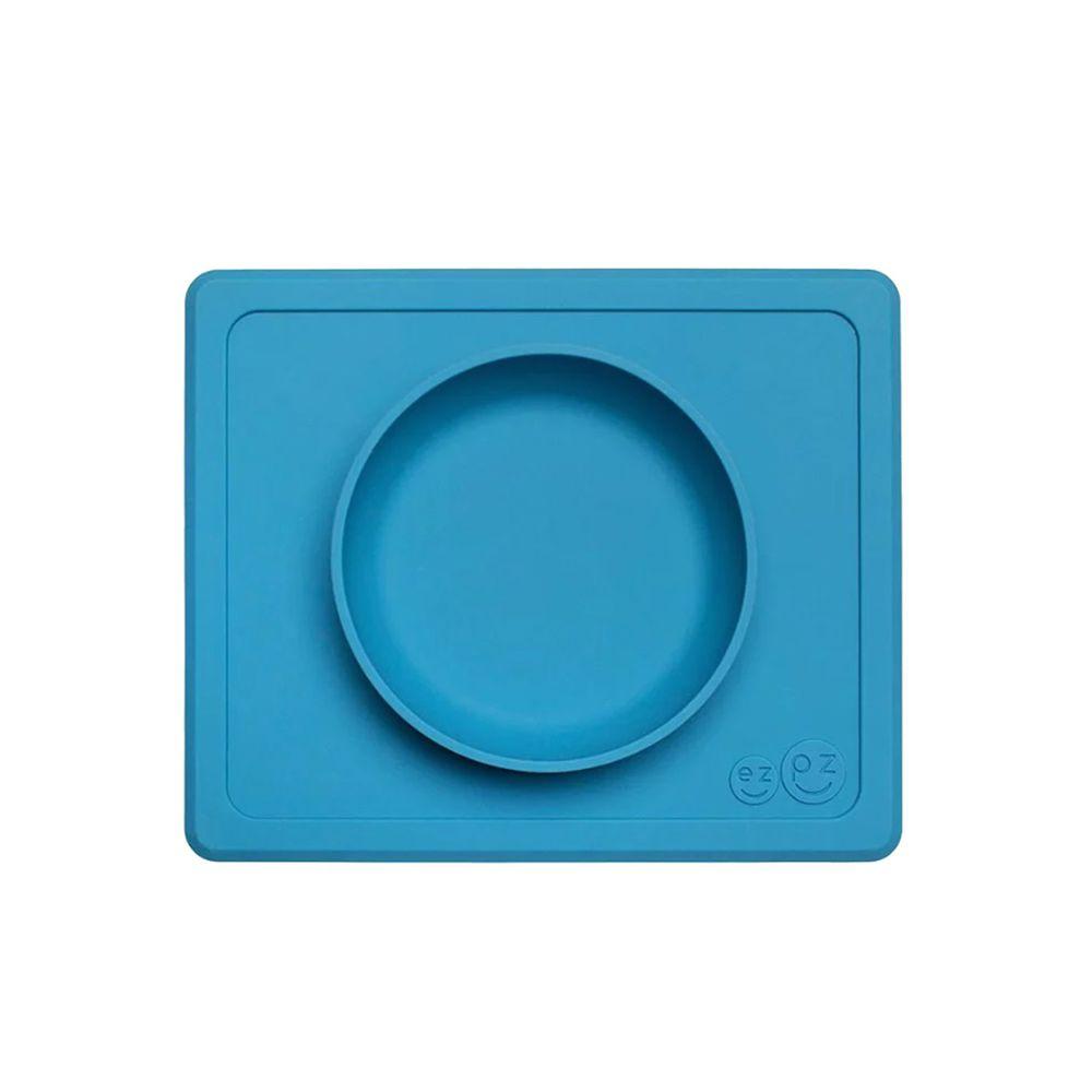 美國 ezpz - 快樂餐碗 Happy Mini bowl-迷你餐碗-寶石藍 (21.6cm*17.8cm*3.18)-240ml