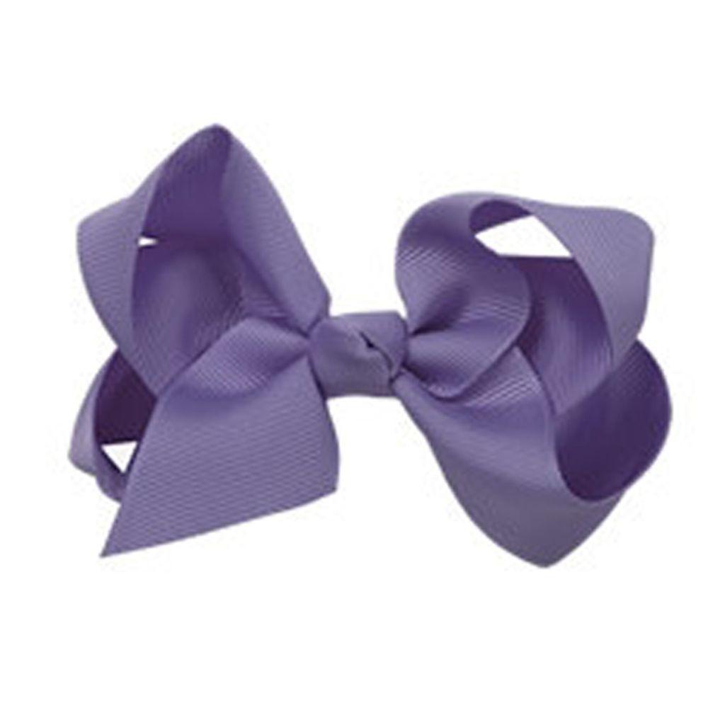 日本 Maison de Ravi - 浪漫蝴蝶結髮夾-高貴紫(5-lilacgray) (大)