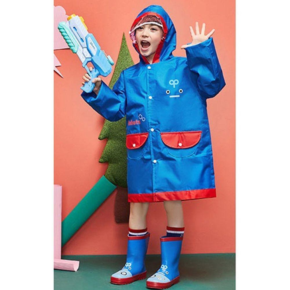 韓國lemonkid - 牛津布造型雨衣-藍色機器人