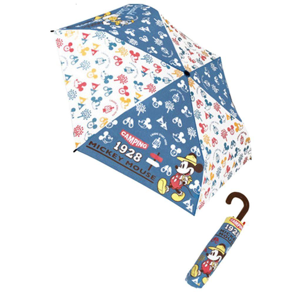 日本代購 - 卡通折疊雨傘-1928滿版米奇 (53cm(125cm以上))