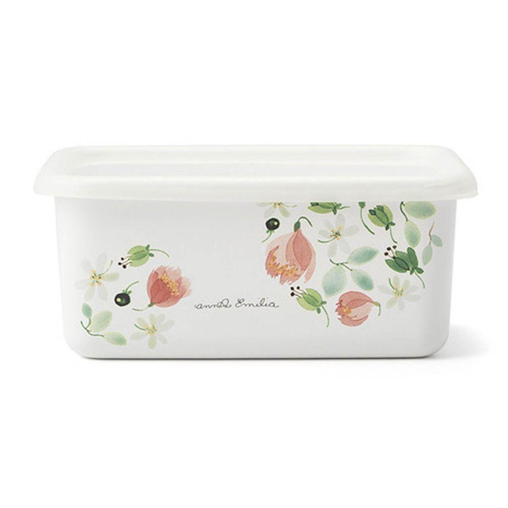 FUJIHORO 富士琺瑯 - 安娜艾米利亞系列-琺瑯烘焙保鮮盒深型-DM-容量:1.12L 重量:0.40kg