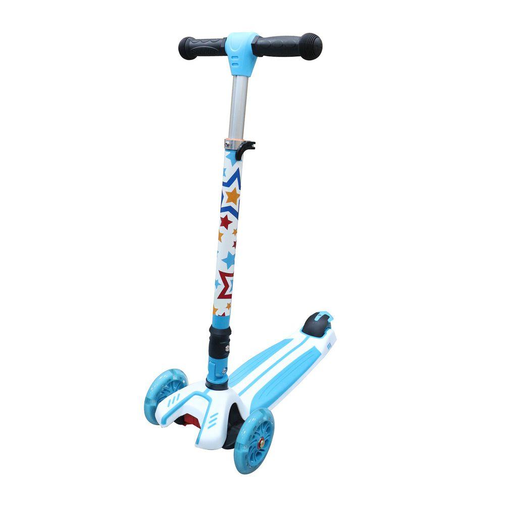 英國 Kiddimoto - 炫光摺疊滑板車Plus-閃亮巨星 (95~140cm/40kg內)