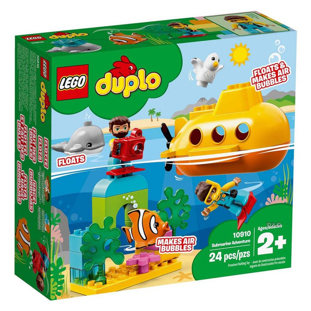 樂高 LEGO - 樂高 Duplo 得寶幼兒系列 - 潛水艇探險 10910-24pcs