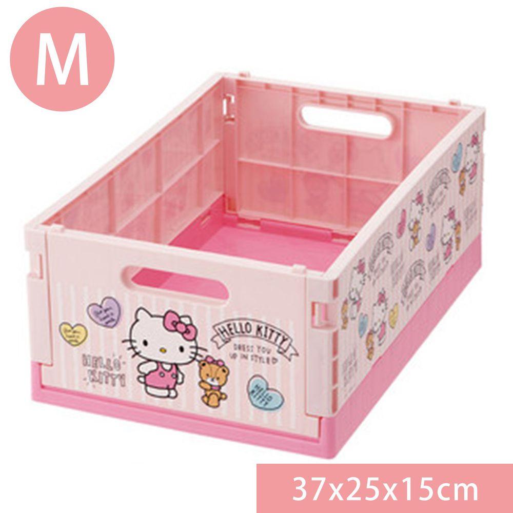 日本 SKATER 代購 - 可折疊收納箱-Hello Kitty (M(37x25x15cm))