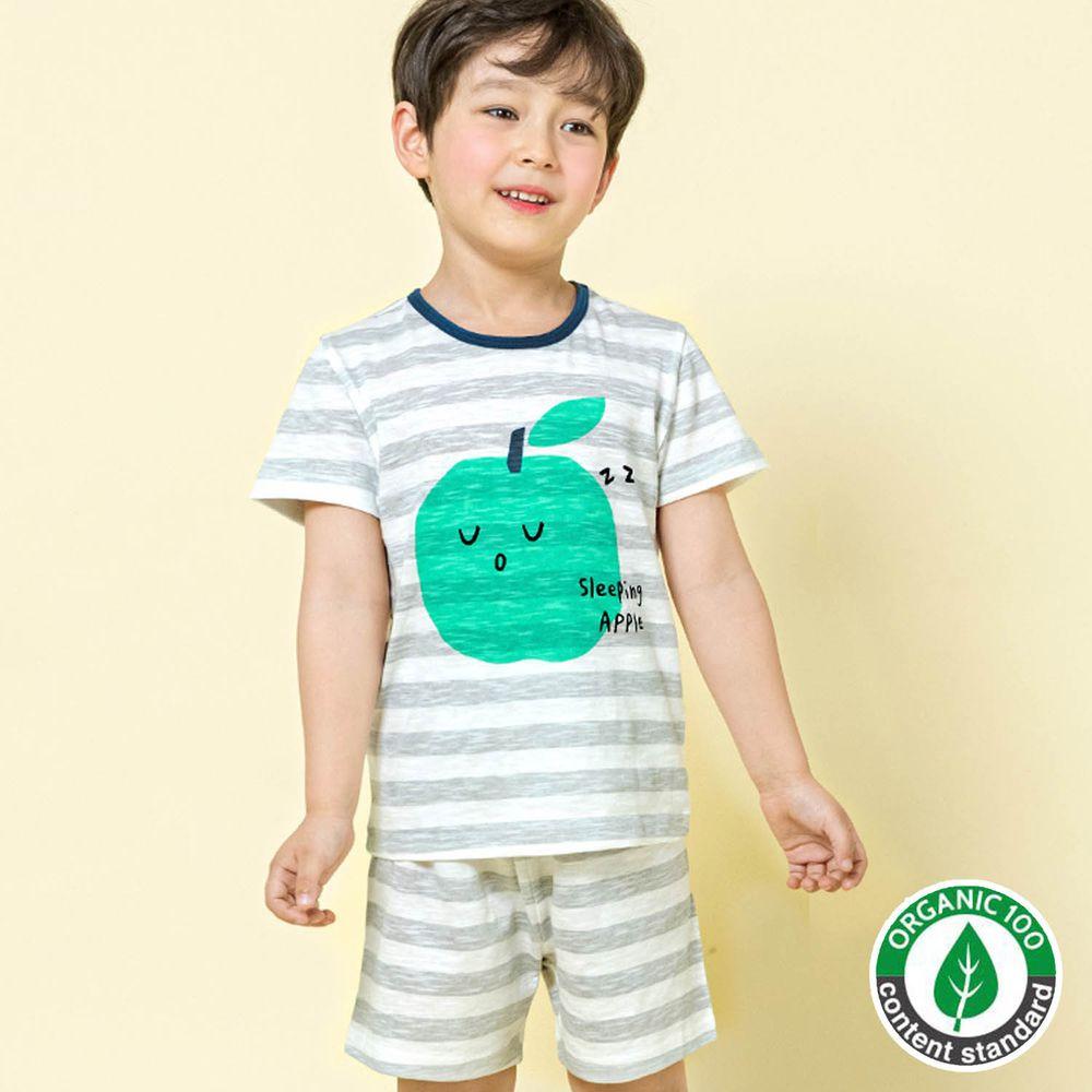 韓國 Maykids - 有機棉細柔短袖袖家居服-親親青蘋果