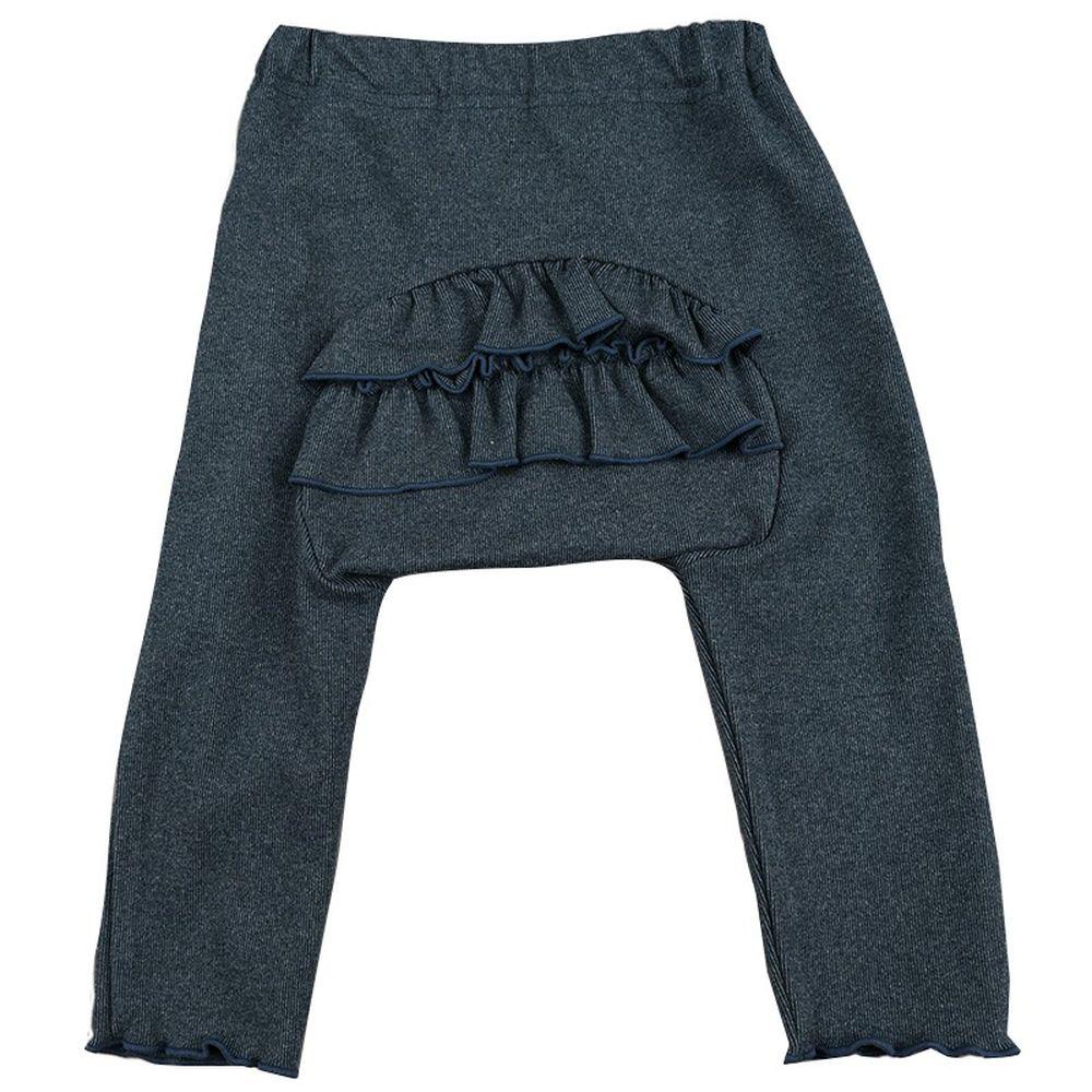 akachan honpo - 屁屁荷葉邊褲-深藍色 (80cm)