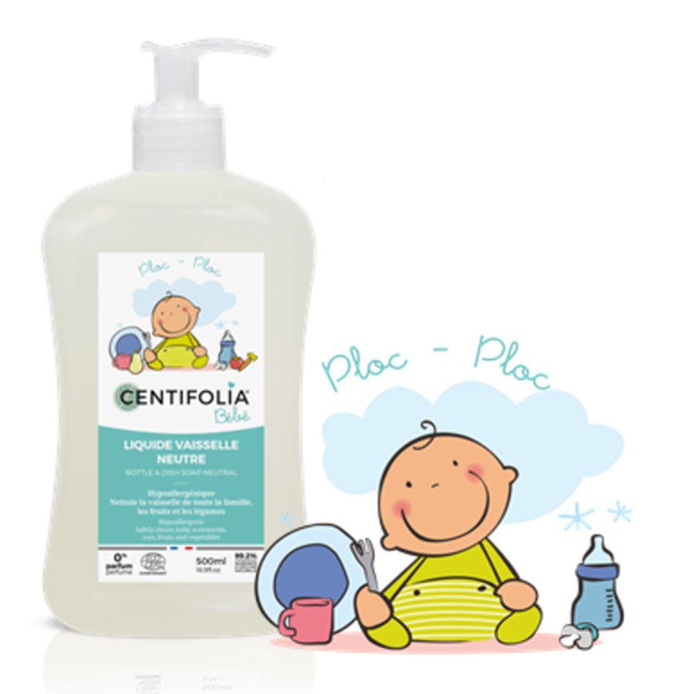 法國貝貝 - 嬰兒系列-奶瓶碗盤洗潔劑(無香精)-550ml