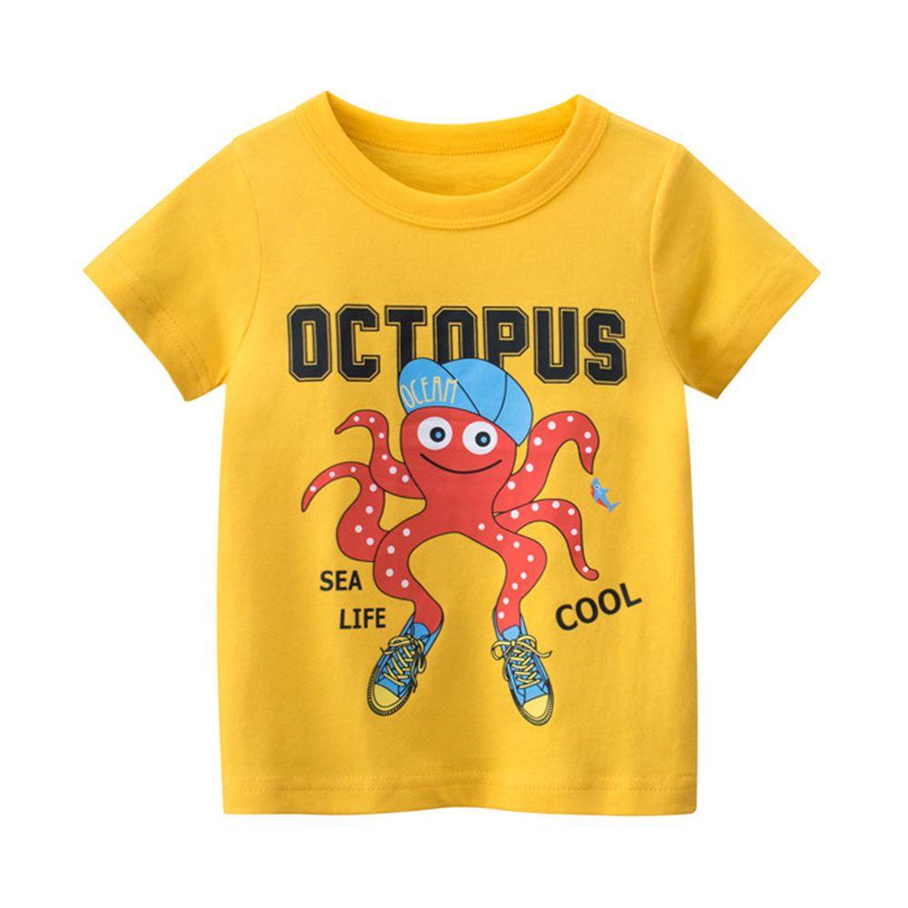 短袖棉T-海底生物-章魚