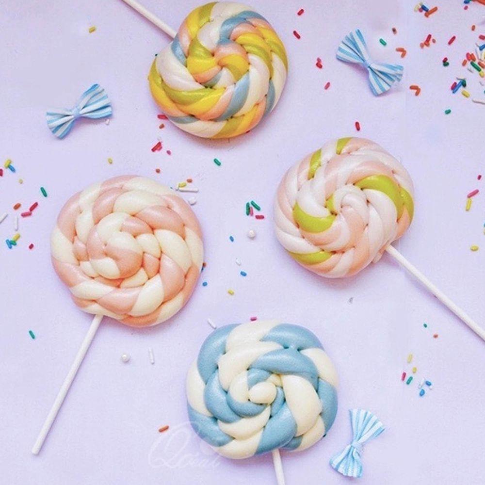 美姬饅頭 - 彩虹棒棒糖鮮乳造型饅頭-6入-50g±5g/顆