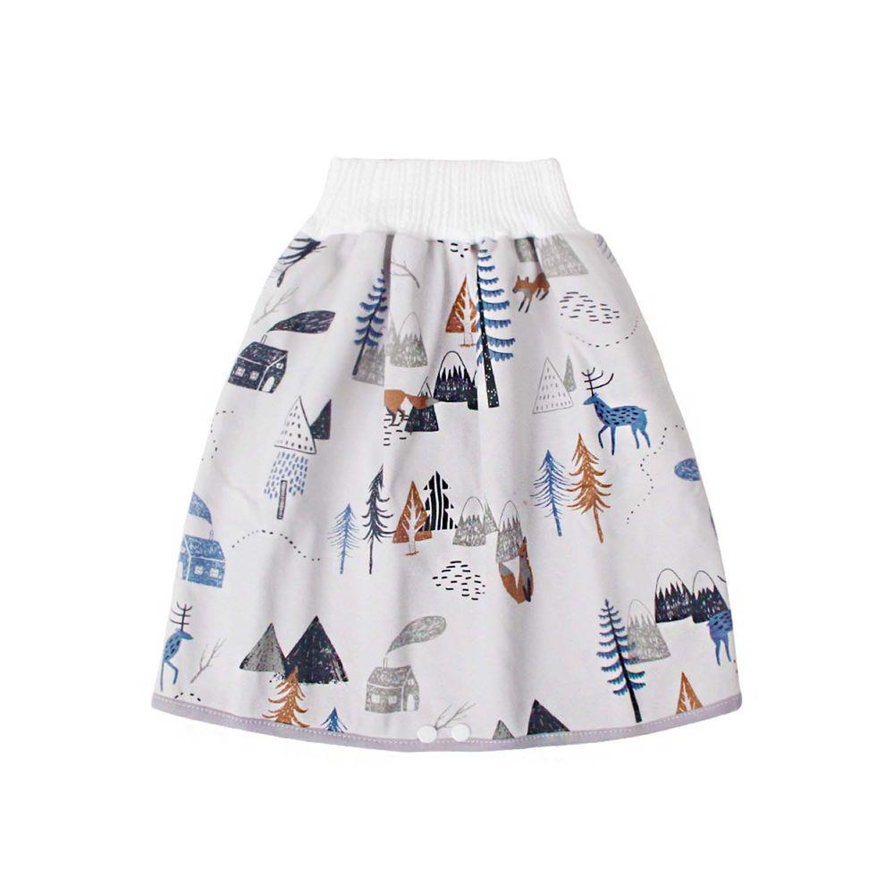 高腰護肚隔尿裙-雪景森林