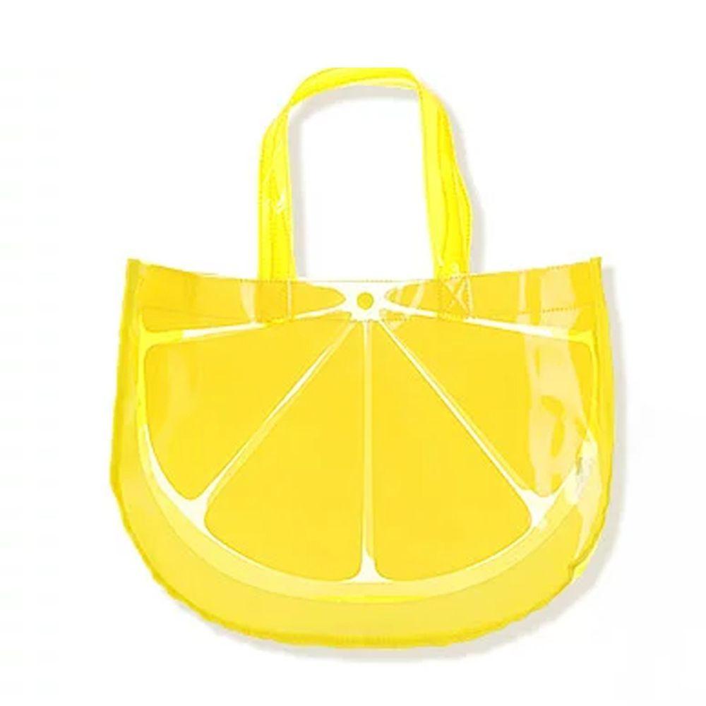 日本 ZOOLAND - 防水PVC手提袋/游泳包-I檸檬 (25x34x11cm)